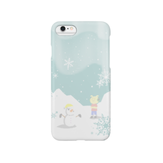 片陸遼助のピグマと雪だるま Smartphone cases