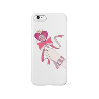 マジカルローズハートロッド Smartphone cases