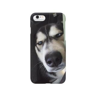 変顔ハスキー Smartphone cases