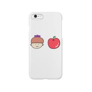 りんごとぼく スマートフォンケース