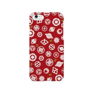 長州志士家紋(赤) Smartphone cases