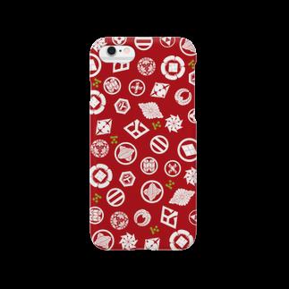 和彩彩きーこの長州志士家紋(赤) Smartphone cases