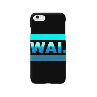 WAIフョンケース(ブラック&ブルー) Smartphone cases