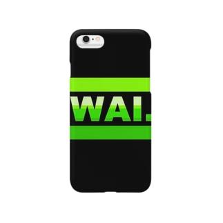 WAIフョンケース(ブラック&グリーン) Smartphone cases