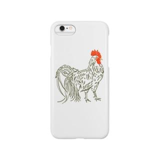 リアルニワトリ Smartphone cases