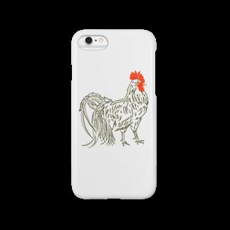 もふ毛ギャラリーのリアルニワトリ Smartphone cases