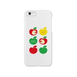 りんごちゃん(ホワイトNo.2) Smartphone cases