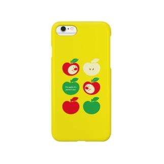 りんごちゃん(イエローNo.2) Smartphone cases
