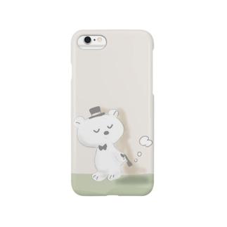 紳士クマ Smartphone cases