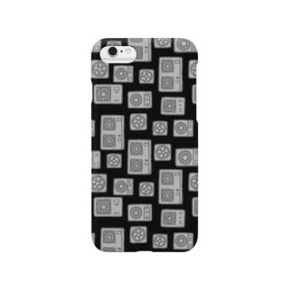室外機と換気扇(黒) Smartphone cases