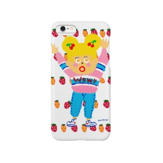 Wow!とおどろく女の子 Smartphone cases