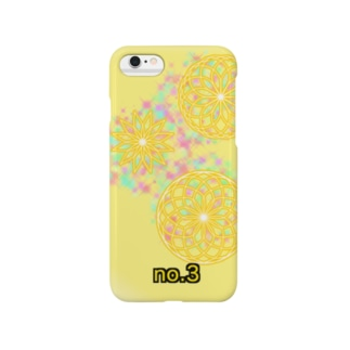 No.3 yellow Smartphone cases