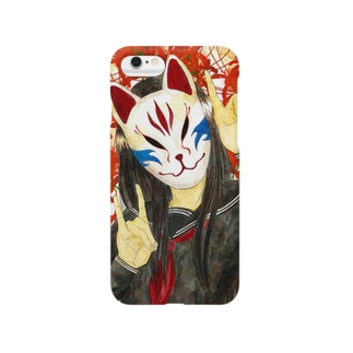 狐面少女 Smartphone cases
