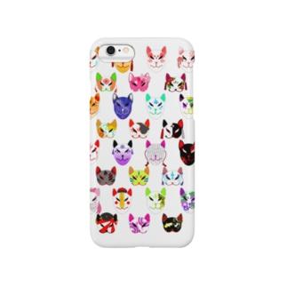 狐面勢揃い Smartphone cases