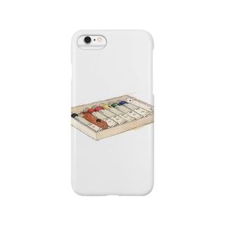 うさぎ色絵の具 Smartphone cases