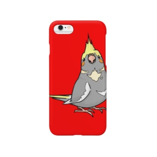 オカメインコ(ノーマルパイド)iPhoneケース Smartphone cases