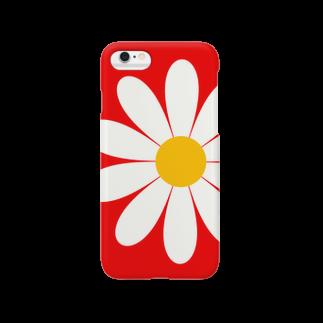 Pop-Hanaのお花モチーフ*赤 Smartphone cases