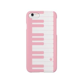 ピアノの鍵盤 スマートフォンケース