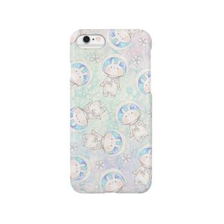 宇宙うさぎ Smartphone cases