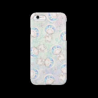 *momochy shop*の宇宙うさぎ Smartphone cases