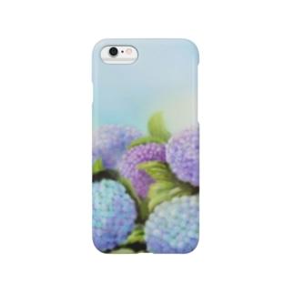 紫陽花きらきら Smartphone cases