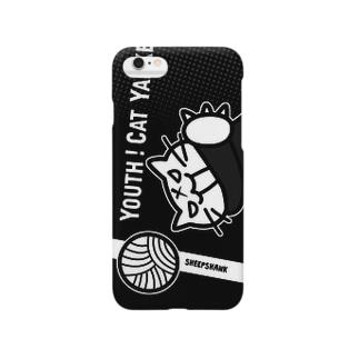 青春!ねこヤンキー(Black) Smartphone cases
