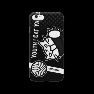 sheepshankの青春!ねこヤンキー(Black) Smartphone cases
