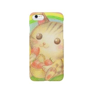 イチゴと猫 Smartphone cases