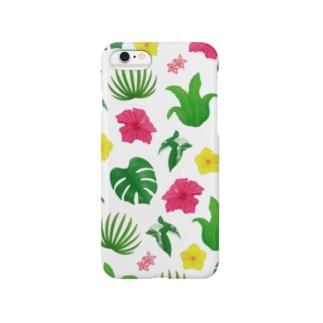 ボタニカル(白) Smartphone cases