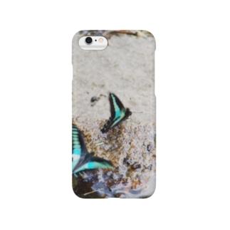 星の景色 つがいの蝶 Smartphone cases