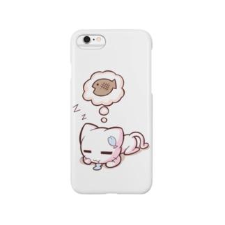 どやネコ!どやちゃん(お昼寝中) Smartphone cases