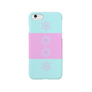 ゆめかわパステルピンク×パステルブルー Smartphone cases