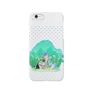 植物と鳥と女の子・スマホケース Smartphone cases