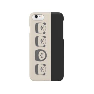 ぱんだるまん(モノトーン) Smartphone cases