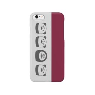 ぱんだるまん(エンジ) Smartphone cases