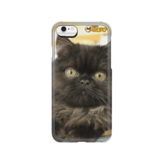Cat Cafe ねころびのくろすけiPhoneケース Smartphone cases