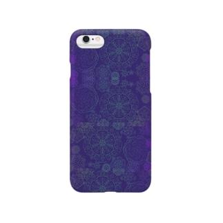 結晶パターン Smartphone cases