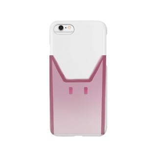 シカクアカネコ Smartphone cases