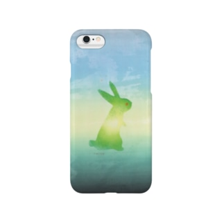 a piece of animation 夕空うさぎ iphoneケース001 Smartphone cases