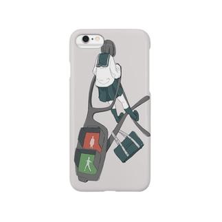 メガネ逆上がりwith信号 Smartphone cases