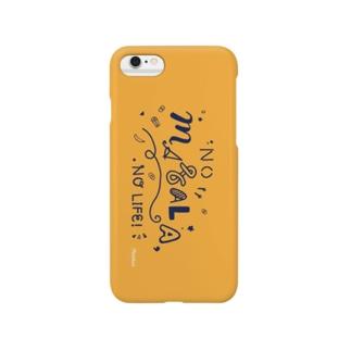 NO MASALA, NO LIFE. スマホケース 黄色 Smartphone cases