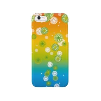 泡上昇(カラフル) Smartphone cases