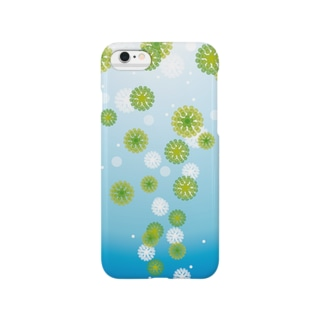 泡上昇(緑) Smartphone cases