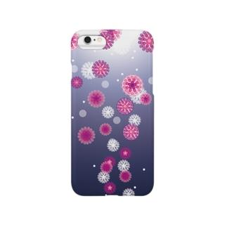 泡上昇(ピンク) Smartphone cases