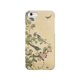 『菊と鵲』(岡本秋暉) Smartphone cases