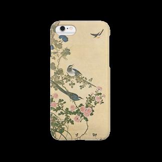 永文堂の『菊と鵲』(岡本秋暉) Smartphone cases