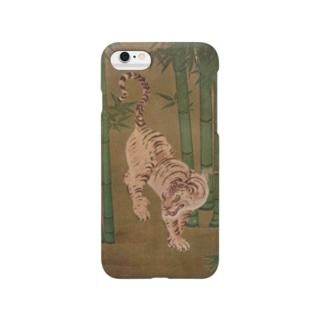 『竹林群虎図(部分)』(狩野探幽) Smartphone cases