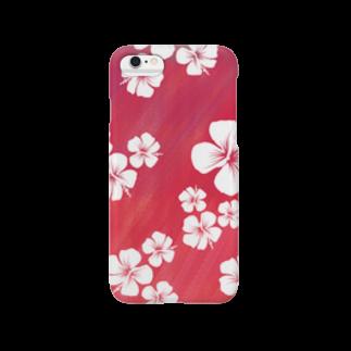 chicodeza by suzuriのおしゃれハイビスカスのスマホケース Smartphone cases