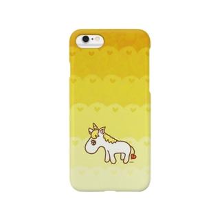 yellow unicorn♡ Smartphone cases