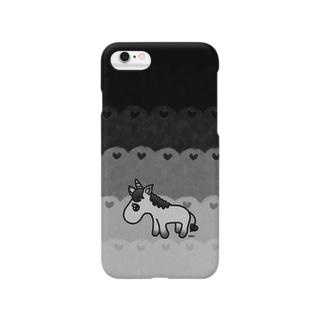 black unicorn♡ Smartphone cases